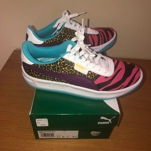 Worn once Puma California animal print sneakers